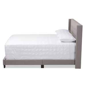 Baxton Studio Lisette Modern and Contemporary Grey Fabric Upholstered Full Size Bed Baxton Studio-0-Minimal And Modern - 2