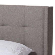 Baxton Studio Lisette Modern and Contemporary Grey Fabric Upholstered Queen Size Bed Baxton Studio-0-Minimal And Modern - 4