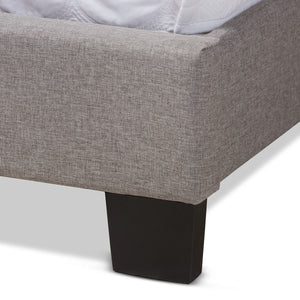 Baxton Studio Lisette Modern and Contemporary Grey Fabric Upholstered King Size Bed Baxton Studio-0-Minimal And Modern - 5