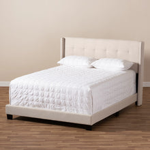 Baxton Studio Lisette Modern and Contemporary Beige Fabric Upholstered Queen Size Bed Baxton Studio-0-Minimal And Modern - 7