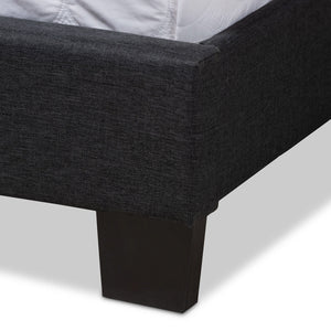 Baxton Studio Lisette Modern and Contemporary Charcoal Grey Fabric Upholstered Full Size Bed Baxton Studio-0-Minimal And Modern - 6