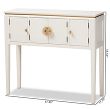 Baxton Studio Aiko Classic and Traditional Japanese-Inspired Off-White Finished 4-Door Wood Console Table