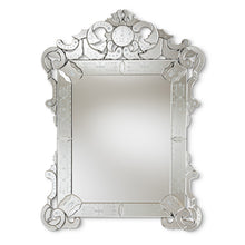 Baxton Studio Floriana Classic and Traditional Silver Finished Venetian Style Accent Wall Mirror Baxton Studio-mirrors-Minimal And Modern - 1