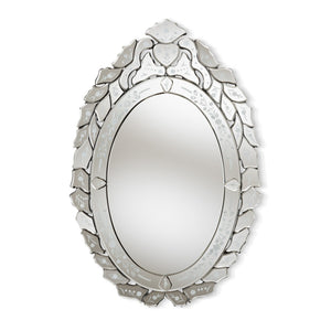 Baxton Studio Livia Classic and Traditional Silver Finished Venetian Style Accent Wall Mirror Baxton Studio-mirrors-Minimal And Modern - 1