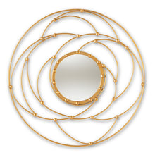 Baxton Studio Marisol Modern and Contemporary Antique Gold Finished Round Accent Wall Mirror Baxton Studio-mirrors-Minimal And Modern - 1