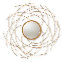 Baxton Studio Aelius Modern and Contemporary Gold Finished Accent Wall Mirror Baxton Studio-mirrors-Minimal And Modern - 1