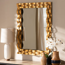 Baxton Studio Arpina Modern and Contemporary Antique Gold Finished Rectangular Accent Wall Mirror