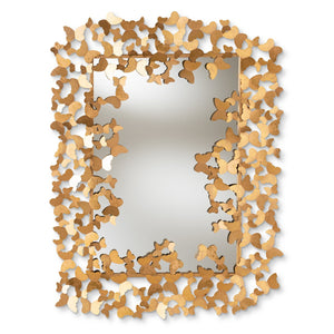 Baxton Studio Idalia Modern and Contemporary Antique Gold Finished Butterfly Accent Wall Mirror Baxton Studio-mirrors-Minimal And Modern - 1