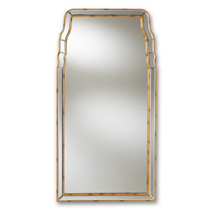 Baxton Studio Alice Modern and Contemporary Queen Anne Style Antique Gold Finished Accent Wall Mirror Baxton Studio-mirrors-Minimal And Modern - 1