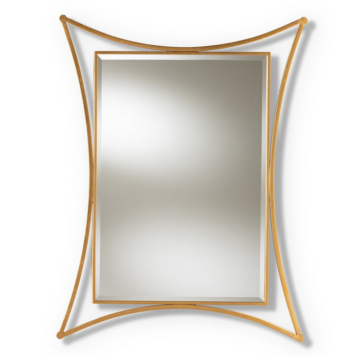 Baxton Studio Melia Modern and Contemporary Antique Gold Finished Rectangular Accent Wall Mirror Baxton Studio-mirrors-Minimal And Modern - 1