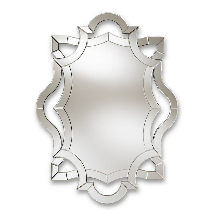 Baxton Studio Colina Modern and Contemporary Silver Finished Accent Wall Mirror Baxton Studio-mirrors-Minimal And Modern - 1