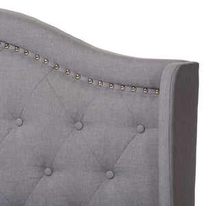 Baxton Studio Aden Modern and Contemporary Grey Fabric Upholstered Full Size Bed Baxton Studio-0-Minimal And Modern - 5