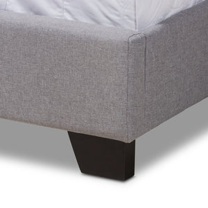 Baxton Studio Aden Modern and Contemporary Grey Fabric Upholstered Queen Size Bed Baxton Studio-0-Minimal And Modern - 6