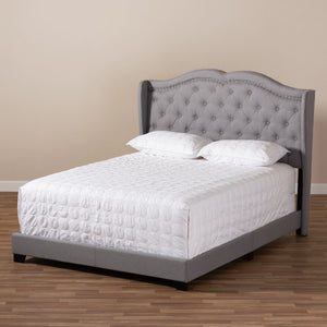 Baxton Studio Aden Modern and Contemporary Grey Fabric Upholstered Full Size Bed Baxton Studio-0-Minimal And Modern - 8