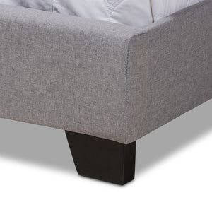 Baxton Studio Alesha Modern and Contemporary Grey Fabric Upholstered Queen Size Bed Baxton Studio-0-Minimal And Modern - 6