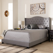 Baxton Studio Alesha Modern and Contemporary Grey Fabric Upholstered Queen Size Bed Baxton Studio-0-Minimal And Modern - 7
