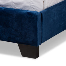 Baxton Studio Candace Luxe and Glamour Navy Velvet Upholstered King Size Bed Baxton Studio-0-Minimal And Modern - 6