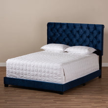 Baxton Studio Candace Luxe and Glamour Navy Velvet Upholstered Full Size Bed Baxton Studio-0-Minimal And Modern - 8