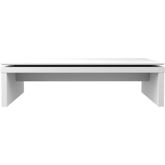 Manhattan Comfort Lincoln Rectangle Coffee Table in White Gloss-Minimal & Modern