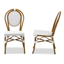 Baxton Studio Gauthier Classic French Indoor and Outdoor Grey and White Bamboo Style Stackable Bistro Dining Chair Set of 2 Baxton Studio-dining chair-Minimal And Modern - 3
