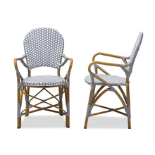 Baxton Studio Seva Classic French Indoor and Outdoor Beige and Red Bamboo Style Stackable Bistro Dining Chair Set of 2 Baxton Studio-dining chair-Minimal And Modern - 3