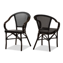 Baxton Studio Artus Classic French Indoor and Outdoor Black Bamboo Style Stackable Bistro Dining Chair Set of 2 Baxton Studio-dining chair-Minimal And Modern - 1