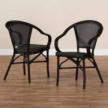 Baxton Studio Artus Classic French Indoor and Outdoor Black Bamboo Style Stackable Bistro Dining Chair Set of 2 Baxton Studio-dining chair-Minimal And Modern - 7