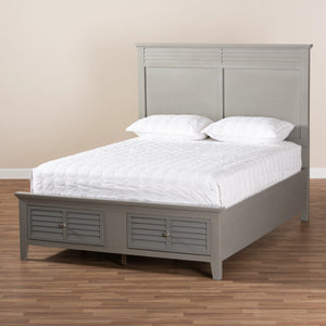 Baxton Studio Indira Transitional Grey Finished Wood 6-Piece Queen Size Bedroom Set Baxton Studio-beds-Minimal And Modern - 2