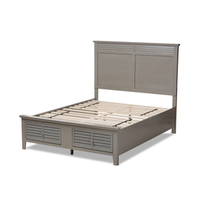 Baxton Studio Indira Transitional Grey Finished Wood 6-Piece King Size Bedroom Set Baxton Studio-beds-Minimal And Modern - 6