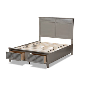 Baxton Studio Indira Transitional Grey Finished Wood 6-Piece King Size Bedroom Set Baxton Studio-beds-Minimal And Modern - 7