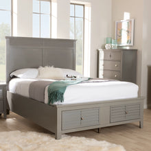 Baxton Studio Indira Transitional Grey Finished Wood 6-Piece King Size Bedroom Set Baxton Studio-beds-Minimal And Modern - 10