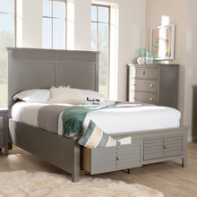 Baxton Studio Indira Transitional Grey Finished Wood 6-Piece King Size Bedroom Set Baxton Studio-beds-Minimal And Modern - 11