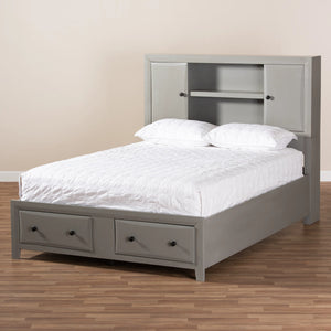 Baxton Studio Rosana Transitional Grey finished Wood 6-Piece King Size Bedroom Set  Baxton Studio-0-Minimal And Modern - 2