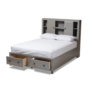 Baxton Studio Rosana Transitional Grey finished Wood 6-Piece King Size Bedroom Set  Baxton Studio-0-Minimal And Modern - 4