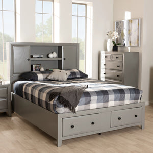Baxton Studio Rosana Transitional Grey finished Wood 6-Piece King Size Bedroom Set  Baxton Studio-0-Minimal And Modern - 10