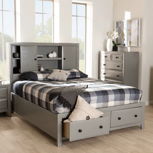 Baxton Studio Rosana Transitional Grey finished Wood 6-Piece King Size Bedroom Set  Baxton Studio-beds-Minimal And Modern - 11