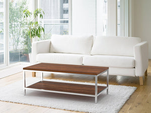 Bamboogle Koa Coffee Table With Silver Legs BKL-20-S-4924-K