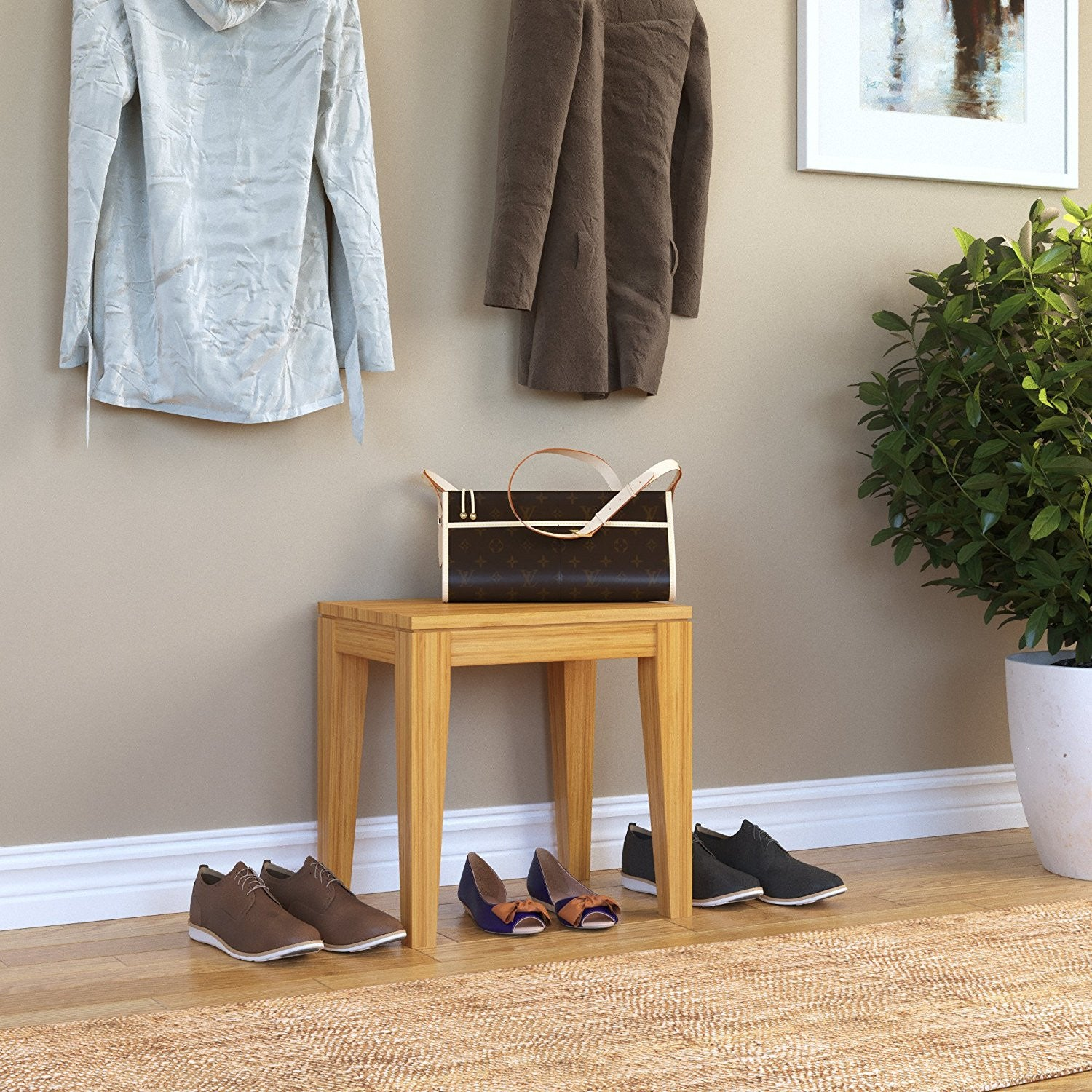 ... Bamboogle Brazil Bamboo Chow Table In Honey 40 1418H