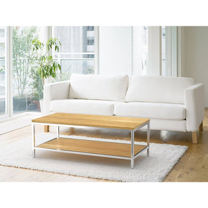 Bamboogle Timber Coffee Table With Silver Legs BKL-20-S-4924-T-Minimal & Modern