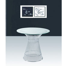 "Finemod Imports Modern Libo Dining Table 48"" FMI9230-48-clear-Minimal & Modern"