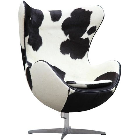 Finemod Imports Modern Inner Chair Pony Hide Black & White Pony Hide, Chairs - Finemod Imports, Minimal & Modern - 1