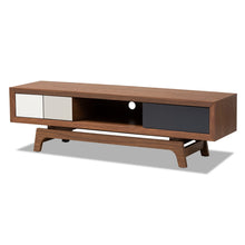 Baxton Studio Svante Mid-Century Modern Multicolor Finished Wood 3-Drawer TV Stand Baxton Studio-TV Stands-Minimal And Modern - 1