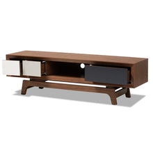 Baxton Studio Svante Mid-Century Modern Multicolor Finished Wood 3-Drawer TV Stand