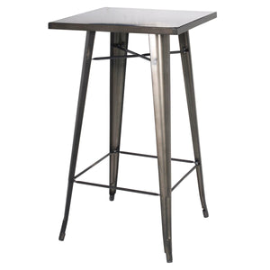 Metropolis Metal Bar Table by New Pacific Direct - 9300013-GM