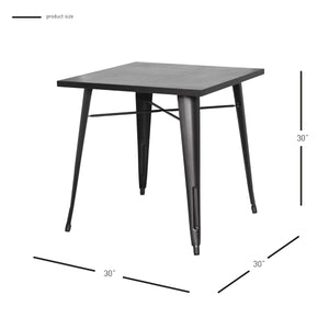 Metropolis Metal Dining Table by New Pacific Direct - 9300019