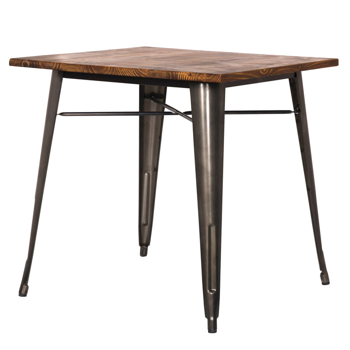 Metropolis Metal Dining Table by New Pacific Direct - 9300020-GM