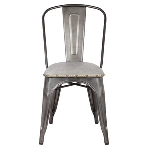 Metropolis PU Leather Metal Side Chair - Set of 4 by New Pacific Direct - 9300027