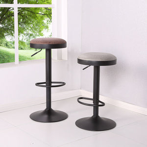 Juno PU Leather Gaslift Backless Swivel Bar Stool - Set of 2 by New Pacific Direct - 9300035