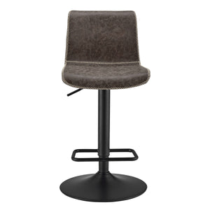 Jayden PU Leather Low back Gaslift Bar Stool - Set of 2 by New Pacific Direct - 9300039
