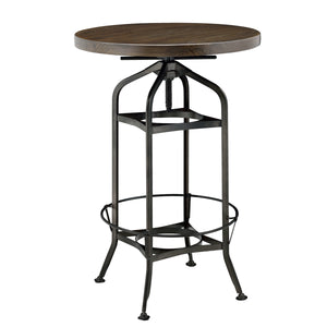 Industrial Vintage Bar Table by New Pacific Direct - 9300041